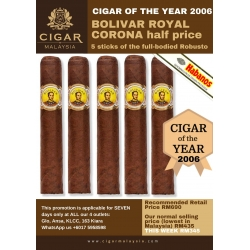 Bolivar Royal Coronas 5-pack promo